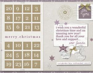 FREE Seishido.biz Christmas Calendar  Photoshop brush