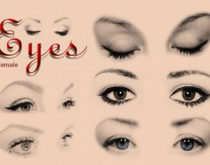 20 Female Eyes Ps Brushes abr. Photoshop brush