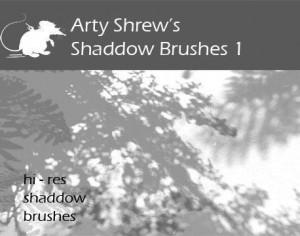 Arty Shrew's Shadows Brushes  Photoshop brush