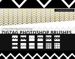 Zigzag Brushes Photoshop brush