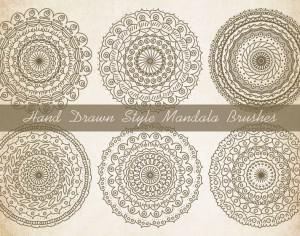 Sketchy Style Mandala Brushes Photoshop brush
