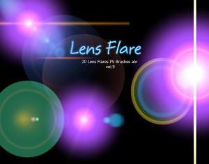 20 Lens Flares PS Brushes abr vol.9 Photoshop brush