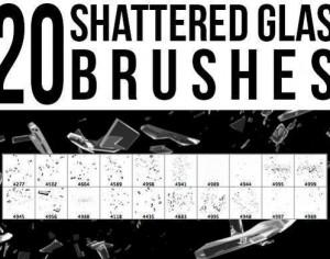 Shattered Glass Brushes Photoshop brush