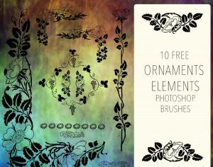 Ornament Floral Elements Photoshop brush