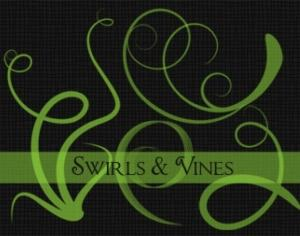 Swirls & Vines Photoshop brush