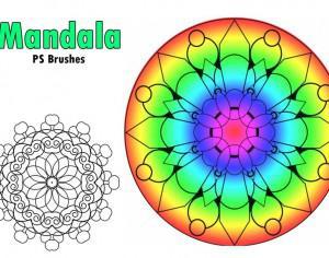 20 Mandala PS Brushes abr. vol.2 Photoshop brush