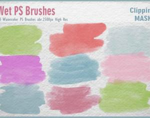 Watercolor Mask PS Brushes abr. Photoshop brush