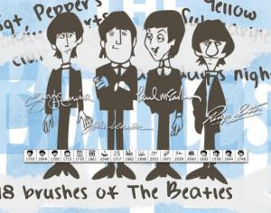 The Beatles Brushes Photoshop brush