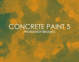 Free Concrete Paint Photoshop Brushes 5 Photoshop brush