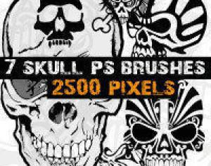 Skull Brushes Photoshop  Photoshop brush