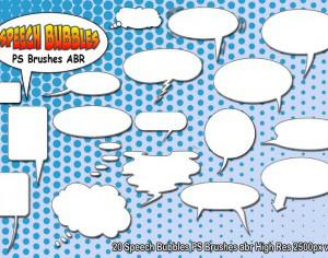 Speech Bubbles PS Brushes abr  vol 3 Photoshop brush
