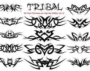 20 Tribal PS Brushes Vol.15 Photoshop brush