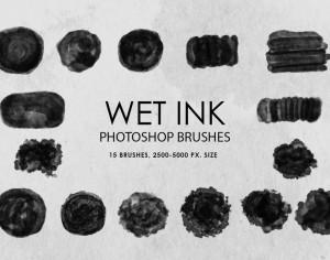 Free Wet Ink Photoshop Brushes Photoshop brush