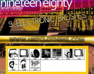 Electronic Brush Set Photoshop brush