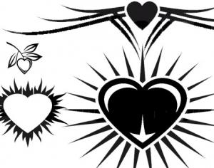 Heart brushes Set 7 Photoshop brush