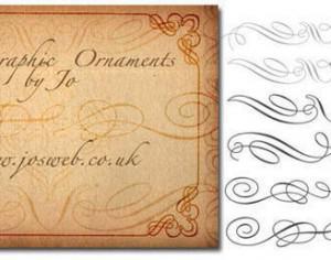 Calligraphic Ornaments Photoshop brush