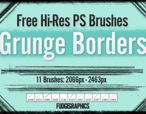 Grunge Borders Brush Set Photoshop brush