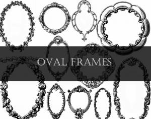 Oval Frames Set 2 Photoshop brush