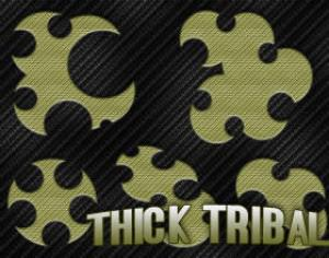 5 Thick Tribal Brushes Photoshop brush