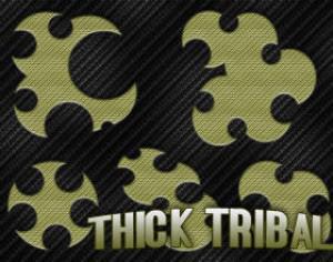 5 Thick Tribal Brushes Photoshop brush