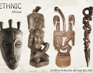 20 Ethnic PS Brushes abr. vol.4 Photoshop brush