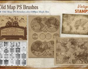 Old Map PS Brushes Photoshop brush