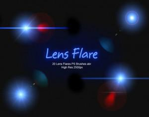 20 Lens Flares PS Brushes abr vol.5 Photoshop brush