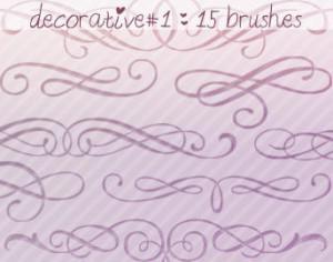 Decorative Brushes 1 Photoshop brush