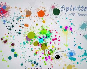 20 Color Splatter PS Brushes abr vol.5 Photoshop brush