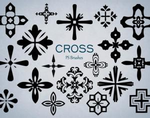 20 Cross PS Brushes abr.Vol.9 Photoshop brush