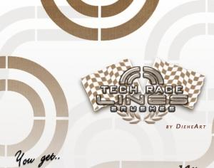 Tech Race Lines Brushes Photoshop brush