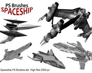 20 Spaceship PS Brushes abr. vol.1 Photoshop brush