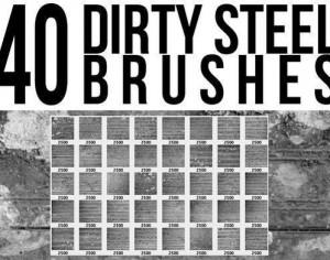Dirty Steel Brushes Photoshop brush