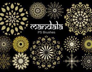 20 Mandala PS Brushes abr. vol.7 Photoshop brush