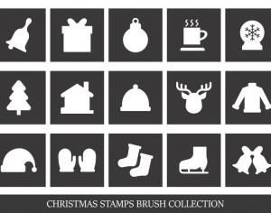 Christmas Stamp Brush Collection Photoshop brush