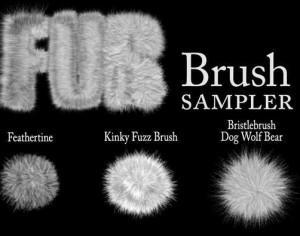 Fur Brushes - Samples Photoshop brush