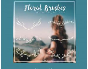 9 Floral Brushes Photoshop brush