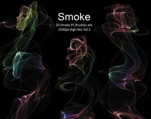 20 Smoke PS Brushes abr. Vol.2 Photoshop brush