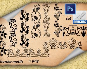 Border Motifs Photoshop brush