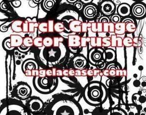 Grunge Cirle Decor Brush Demo by AngelaDesigns Photoshop brush