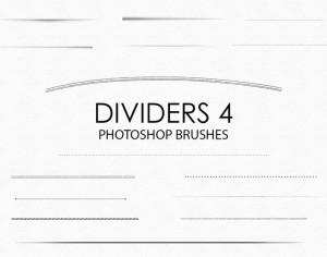 Free Hand Drawn Dividers Photoshop Brushes 4 Photoshop brush