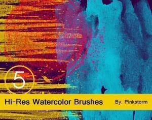 Hi-Res Watercolor textures Photoshop brush