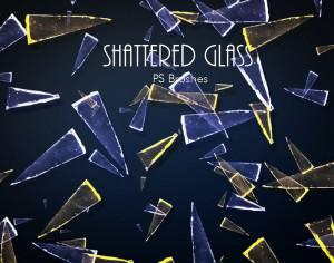 20 Shattered Glass PS Brushes abr.vol.7 Photoshop brush