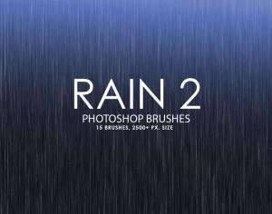 Free Rain Photoshop Brushes 2 Photoshop brush