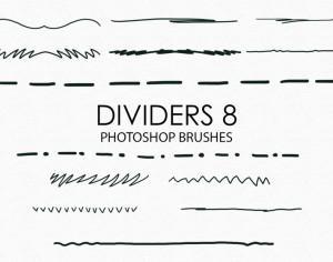 Free Hand Drawn Dividers Photoshop Brushes 8 Photoshop brush