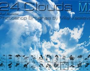 24 Clouds Photoshop brush