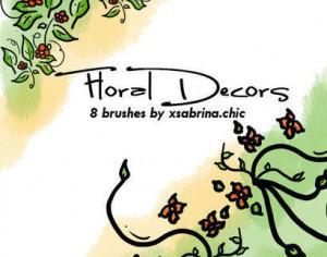 Floral Decor Art Brushes Photoshop brush