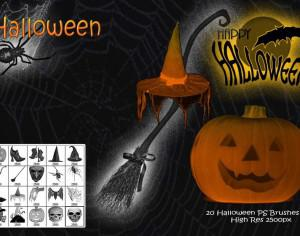 Halloween PS Brushes abr Photoshop brush