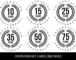 Anniversary Label Brushes Photoshop brush