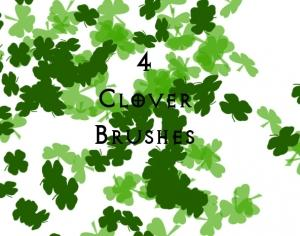 4 Leaf Clovers Photoshop brush